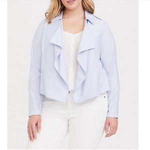 Torrid Light Blue Drape Blazer